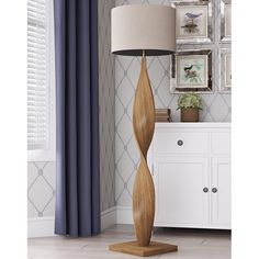 Brown Floor Lamp Light Shade Fabric Beige Contemporary Living Room Hallway Tall for sale online Tree Floor Lamp, Swing Arm Floor Lamp, Floor Lamp Base, Floor Standing Lamps, Brown Floor Lamps, Wooden Floor Lamps, Brass Floor Lamp, Wooden Lamp, Torchiere Floor Lamp