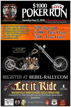 Planning a motorcycle poker run us poker sites new york