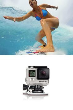 Surfboard mount - Mount your GoPro to surfboards, kayaks, SUPs, boat decks or other gear where maximum holding strength is needed. Includes an FCS compatible male plug to mount your GoPro using an FCS center fin socket. Includes FCS compatible plug for mounting to FCS center fin socket Includes adhesive anchors and camera tethers for enhanced security
