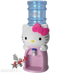 Keep your household hydrated with this adorable Hello Kitty Water Dispenser. This Hello Kitty Water Dispenser dispenses 8 glasses of water or any other beverage. Sanrio Hello Kitty, Hello Kitty Items, Hello Kitty Stuff, Hello Kitty Decor, Hello Kitty Products, Hello Kitty Makeup, Drink Dispenser, Water Dispenser, Drink Holder