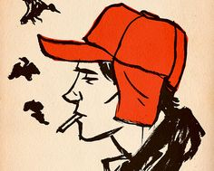 D Salinger Holden Caulfield Catcher In The Rye Poster Print Picture Book Cover Art, Book Cover Design, Book Design, Book Covers, Book Tag, Jd Salinger, Holden Caulfield, Literary Characters, Book Characters