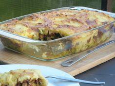 Broccoli-Hackfleisch-Auflauf mit Käse-Kartoffelhaube #rezept