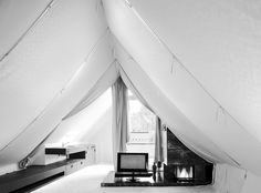 "interiordesign by bernd steinhuber / ""the tent"" / photo: paul ott Go Glamping, Interior Architecture, Interior Design, Tent, Modern, Inspiration, Home Decor, Style, Projects"
