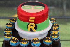 Batman and Robin Cake and CupCakes
