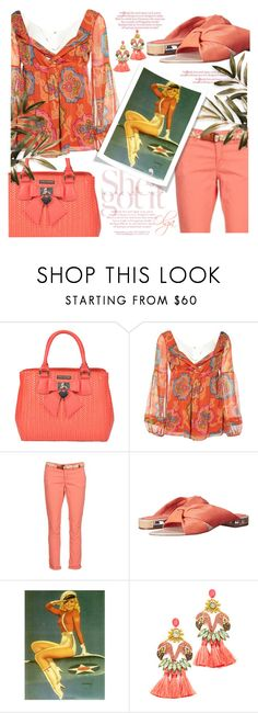 """Je suise Coral"" by olga1402 on Polyvore featuring Luisa Vannini, Diane Von Furstenberg, Franklin & Marshall, Calvin Klein, Elizabeth Cole, Spring and coral"