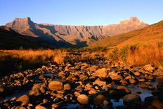 Photographic Print: Thukela River and Amphitheatre, Northern Drakensberg, Royal Natal National Park, South Africa by Ariadne Van Zandbergen : Grand Canyon Camping, Hiking Spots, Hiking Trails, California Camping, Southern California, Honeymoon Spots, Walking Routes, Africa Art, Africa Travel