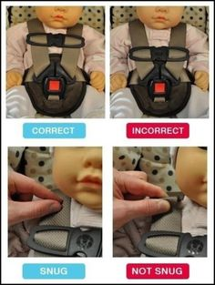 Baby safety matters Baby buckles...whats right and wrong in your babys carseat ~