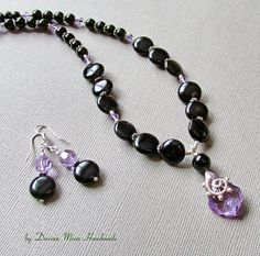 Lavender Shadows jewelry set onyx jewelry gemstone jewelry