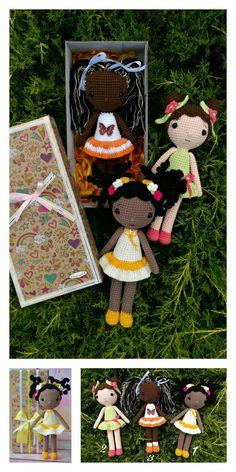 Crochet Bee, Crochet Baby Toys, Crochet Amigurumi Free Patterns, Crochet For Boys, Free Crochet, Crochet Doll Tutorial, Crochet Doll Pattern, Crochet Dolls, Unicorn Doll