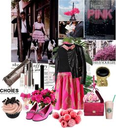 """""""Pretty in Pink"""" by laonela ❤ liked on Polyvore"""