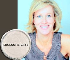"""CHRISTINA MURPHY EDGECOMB GRAY  BENJAMIN MOORE HC-173  """"It's a really soft neutral with depth and warmth. It looks beautiful with almost any accent color, it's so versatile.""""  WWW.CHRISTINAMURPHYINTERIORS.COM"""
