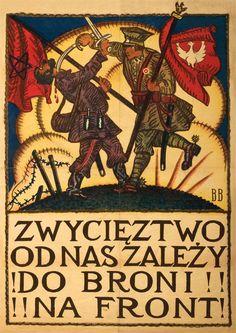 """ Polish propaganda poster during the Polish-Soviet War "" Ww2 Propaganda Posters, Political Posters, Historic Posters, Anti Communism, Warsaw Uprising, Crime, Russian Revolution, Vintage Graphic Design, Old Art"