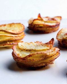 Muffin-Pan Potato Gratins... little bundles of pure yumminess, perfect at the side of a steak, chicken, or seafood dish.