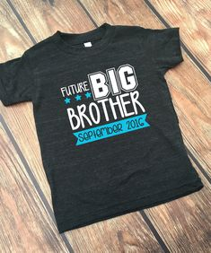 DISCOUNT Code: ANNABELLE15 on all Vazzie Tees purchases <3  Future Big Brother - Personalized Big Brother Shirt - Future BIG Bro Shirt - Boy's Shirts - Promoted to Big Brother - Announcement Shirt by VazzieTees on Etsy (null)