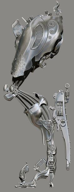 amazing anatomy imagined mechanically, in digital 3D by Spyridon Boviatsos 2012-12 or Dajjal @ ZBrushCentral 988989