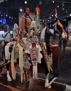 Rhonda Holy Bear (Cheyenne River Sioux): 'Maternal Journey'. Maternal Journey celebrates the cycle of life... It is an homage to the strength and dignity of the Plains mother...