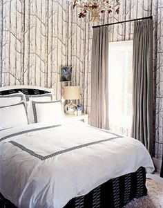 I'm obsessed with birch tree wallpaper and want to find a way to use it in my house.