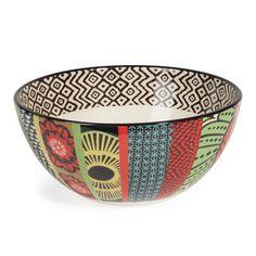 JANEIRO earthenware salad bowl, multicoloured
