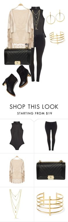 """""""Plus size fall night chic"""" by xtrak ❤ liked on Polyvore featuring Fleur du Mal, Evans, Rupert Sanderson, Chanel, BauXo and Lana"""