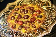 Ovos mexidos com cerejas http://grafe-e-faca.com/pt/receitas/ovos/ovos-mexidos-com-cerejas-mais-uma-fusao/