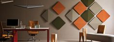 Image of: Amazing Decorative Acoustic Panels Acoustic Wall Panels, Wall Panel Design, Panel Art, Tiny House Design, Wall Decor, Living Room, Kite, Furniture, Home Decor