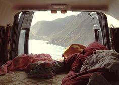 Image via We Heart It https://weheartit.com/entry/113968297/via/13423691 #away #awesome #blankets #Camper #car #coast #comfort #cosy #cozy #far #freedom #hippie #hipster #landscape #liebe #love #mountains #ocean #photography #romantic #seaside #sleep #travel #van #view #wanderlust #water #fernweh #kofferraum