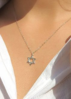 Gold star of david necklace star of david pendant necklace jewish star of david necklace silver star of david necklace by zmirarts aloadofball Image collections