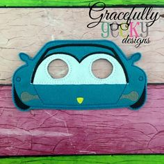 Girl Car Mask Embroidery Design - 5x7 Hoop or Larger