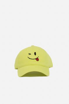 """Wink"" strapback by @hardinglane for @openingceremony. $40"