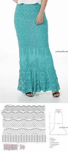 Юбка в пол крючком схемы. Связать юбку крючком схемы // VALENTINA CERGUTSA Crochet Skirts, Crochet Clothes, Crochet Squares, Leg Warmers, Lace Skirt, Diy And Crafts, Stitch, Creative, Pattern