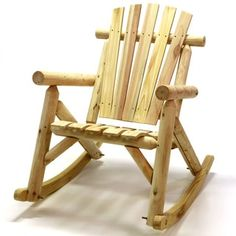 Log Rocking Chair in Natural Finish | Overstock.com Shopping - The Best Deals on Outdoor Benches