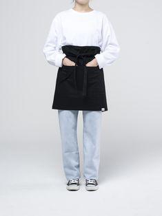 Black Medium Apron Waiter Uniform, Black Media, Package Design, Apron, Normcore, Ootd, Play, Female, Medium
