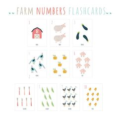 Farm Numbers Flash cards, Animals Numbers Wall Cards, English Flashcards, Numbers wall art, Montessori cards, educational numbers flashcards #montessori #montessoribaby #preschool #alphabet #flashcards #kidsroomsdecor #numbers Alphabet Wall Art, Alphabet Cards, Animal Alphabet, Alphabet And Numbers, Preschool Alphabet, Printable Animals, Printable Art, Printables, Sites Like Etsy