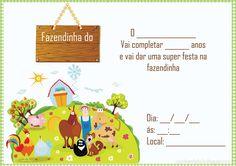 Casinha de Criança: Kit Festa Fazendinha Para Imprimir Grátis