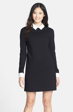 Free shipping and returns on Cynthia Steffe Ponte Shirtdress at Nordstrom.com. A stretchy ponte-knit shift dress is offset with a crisp point collar and decorative button cuffs for a dapper, layered-look one-piece.