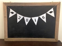 2016 Graduation Sign Felt Banner Bunting by www.SweetThymes.com
