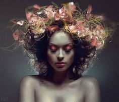 I wonder what my stylist would say- I want my hair done like this please! Inspiring Photography by Stanislav Istratov