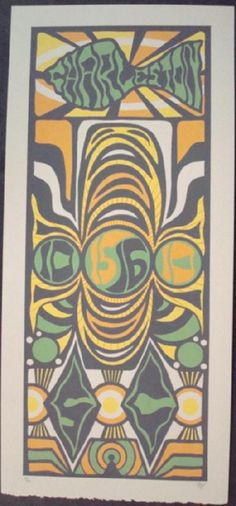 Original silkscreen concert poster Phish in Charleston in 2010. 10 x 21 inches. It is printed on Watercolor Paper with Acrylic Inks. The poster is signed and numbered out of 200 by the artist Tripp.