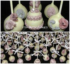 Wedding cake pops.