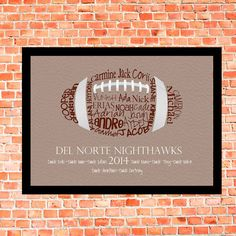 Football Coach Gift Typography Art 57 by lesleygracedesigns The post Football Coach Gift Typography Art 57 by lesleygracedesigns appeared first on kinderzimmer. Football Coach Gifts, Football Crafts, Football Cheer, Custom Football, Football Design, School Football, School Sports, Football Players, Senior Football Gifts