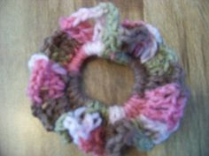 Hair Scrunchies - Hand Crocheted - Colors - Pink Camo (#24) #Scrunchies #Any