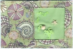 Shaker fabric postcard