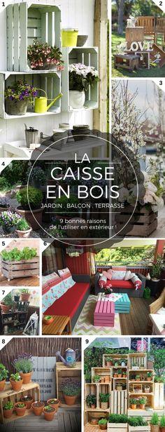 9 Bonnes Raisons d'Utiliser la Caisse en Bois pour le Balcon, la Terrasse ou le Jardin  http://www.homelisty.com/caisses-en-bois-jardin-balcon-terrasse/