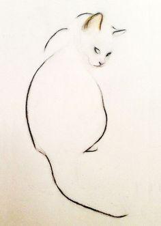 minimalist cat outline; simplicity