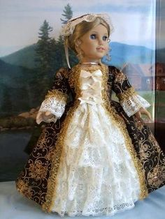 Williamsburg Regal Gown w Panniers Fits American Girl Elizabeth Felicity | eBay
