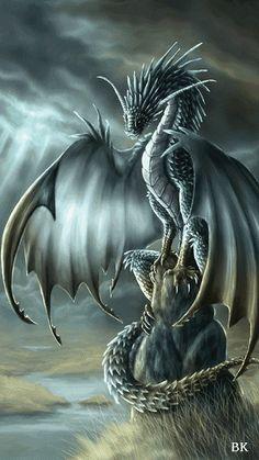 Наблюдающий дракон - анимация на телефон №1018400