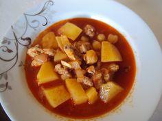 Kartoffeleintopf mit Hühnchen und Kichererbsen - Tavuklu Nohutlu Patates Yahnisi