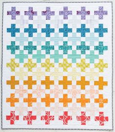 Irish + quilt in Rainbow book by Bryan Quilting Tips, Quilting Tutorials, Patchwork Quilting, Scrappy Quilts, Quilting Fabric, Quilting Projects, Sewing Projects, Plus Quilt, Cross Quilt