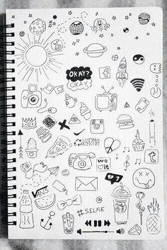 doodle art drawing / doodle art - doodle art journals - doodle art for beginners - doodle art drawing - doodle art easy - doodle art creative - doodle art patterns - doodle art for beginners easy drawings Easy Doodles Drawings, Cute Easy Drawings, Mini Drawings, Art Drawings Sketches Simple, Sketchbook Drawings, Tumblr Drawings Easy, Easy Sketches To Draw, Easy Pencil Drawings, Small Drawings
