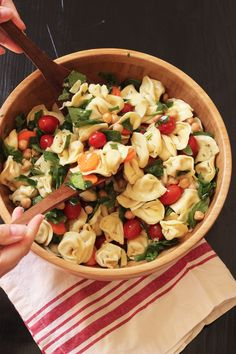 Enjoy a quick Tortellini Pasta Salad full of fresh veggies and a vibrant dressing. It's perfect as a packable lunch, a fast main dish, or an easy side.